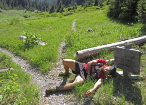 Only 17 more miles! Photo by Luke Distelhorst